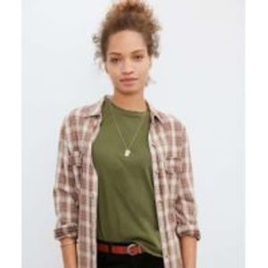 Urban Outfitters Kimchi Blue Olive Green T Shirt